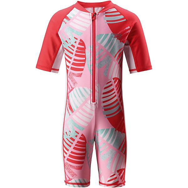 Купальный костюм Galapagos Reima для девочкиКупальники и плавки<br>Характеристики товара:<br><br>• цвет: розовый принт;<br>• состав: 80% Полиамид, 20% эластан;<br>• сезон: лето;<br>• застёжка: молния с защитой подбородка;<br>• купальный комбинезон для малышей SunProof;<br>• рукава до локтей и штанины до колен;<br>• фактор защиты от ультрафиолета 50+;<br>• Reima SunProof®;<br>• полуавтоматическая застежка на молнии, защищающая от случайного открытия;<br>• принт по всей поверхности;<br>• страна бренда: Финляндия.<br><br>Этот цельный купальный костюм сделает принятие солнечных ванн безопасными. Купальный костюм для детей из материала SunProof предназначен как для веселых плесканий в воде, так и для игр на пляже. Купальный костюм обеспечивает эффективную защиту от вредных солнечных лучей вплоть до локтей и колен благодаря УФ-фильтру 50+. Еще этот эластичный материал быстро сохнет, а молния спереди облегчает процесс одевания.<br><br>Купальный костюм Reima от финского бренда Reima (Рейма) можно купить в нашем интернет-магазине.<br>Ширина мм: 183; Глубина мм: 60; Высота мм: 135; Вес г: 119; Цвет: красный; Возраст от месяцев: 18; Возраст до месяцев: 24; Пол: Женский; Возраст: Детский; Размер: 92,140,134,128,122,116,110,104,98; SKU: 7633224;