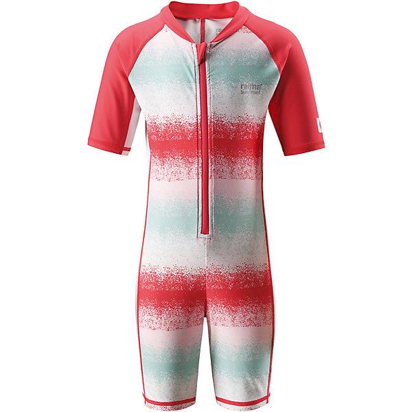 Купальный костюм Galapagos ReimaОдежда<br>Характеристики товара:<br><br>• цвет: розовый в полоску;<br>• состав: 80% Полиамид, 20% эластан;<br>• сезон: лето;<br>• застёжка: молния с защитой подбородка;<br>• купальный комбинезон для малышей SunProof;<br>• рукава до локтей и штанины до колен;<br>• фактор защиты от ультрафиолета 50+;<br>• Reima SunProof®;<br>• полуавтоматическая застежка на молнии, защищающая от случайного открытия;<br>• принт по всей поверхности;<br>• страна бренда: Финляндия.<br><br>Этот цельный купальный костюм сделает принятие солнечных ванн безопасными. Купальный костюм для детей из материала SunProof предназначен как для веселых плесканий в воде, так и для игр на пляже. Купальный костюм обеспечивает эффективную защиту от вредных солнечных лучей вплоть до локтей и колен благодаря УФ-фильтру 50+. Еще этот эластичный материал быстро сохнет, а молния спереди облегчает процесс одевания.<br><br>Купальный костюм Reima от финского бренда Reima (Рейма) можно купить в нашем интернет-магазине.<br>Ширина мм: 183; Глубина мм: 60; Высота мм: 135; Вес г: 119; Цвет: красный; Возраст от месяцев: 18; Возраст до месяцев: 24; Пол: Унисекс; Возраст: Детский; Размер: 92,140,134,128,122,116,110,104,98; SKU: 7633342;