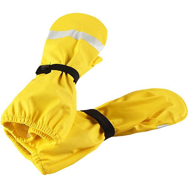 Непромокаемые варежки Kura ReimaВарежки<br>Характеристики товара:<br><br>• цвет: жёлтый;<br>• состав: 100% полиамид, полиуретановое покрытие;<br>• без подкладки;<br>• без дополнительного утепления;<br>• сезон: демисезон;<br>• температурный режим: от +5 до +20С;<br>• застёжка: ремешок-утяжка с кнопкой;<br>• запаянные швы, не пропускающие влагу;<br>• эластичный материал;<br>• не содержит ПВХ;<br>• светоотражающие детали;<br>• страна бренда: Финляндия.<br><br>Непромокаемые варежки для малышей станут отличным решением, если крохе вдруг понадобится исследовать лужи на четвереньках. Эта демисезонная модель без подкладки изготовлена из эластичного и безопасного материала, не содержащего ПВХ. Благодаря запаянным швам эти варежки останутся сухими – сколько бы луж не пришлось изучить вашему малышу.<br><br>Варежки Reima от финского бренда Reima (Рейма) можно купить в нашем интернет-магазине.<br>Ширина мм: 162; Глубина мм: 171; Высота мм: 55; Вес г: 119; Цвет: желтый; Возраст от месяцев: 72; Возраст до месяцев: 96; Пол: Унисекс; Возраст: Детский; Размер: 5,1,4,3,2; SKU: 7633412;