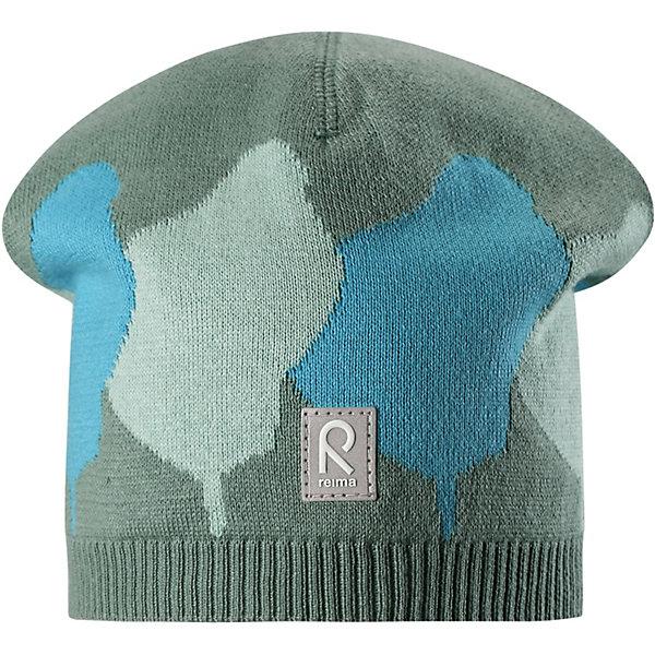 Шапка Pulpo ReimaШапки и шарфы<br>Характеристики товара:<br><br>• цвет: зелёный;<br>• состав: 100% хлопок;<br>• без подкладки;<br>• без дополнительного утепления;<br>• сезон: демисезон;<br>• температурный режим: от +5 до +15С;<br>• без застёжки;<br>• хлопчатобумажная ткань;<br>• товар сертифицирован Oeko-Tex;<br>• лёгкий стиль, без подкладки;<br>• жаккардовый вязаный узор по всей поверхности<br>• светоотражающие элементы;<br>• страна бренда: Финляндия.<br><br>Легкая трикотажная шапка из хлопка без подкладки – идеальный вариант на летний вечер в ветреную погоду. <br><br>Шапку Reima от финского бренда Reima (Рейма) можно купить в нашем интернет-магазине.<br>Ширина мм: 89; Глубина мм: 117; Высота мм: 44; Вес г: 155; Цвет: зеленый; Возраст от месяцев: 18; Возраст до месяцев: 24; Пол: Унисекс; Возраст: Детский; Размер: 48,56,52; SKU: 7633714;