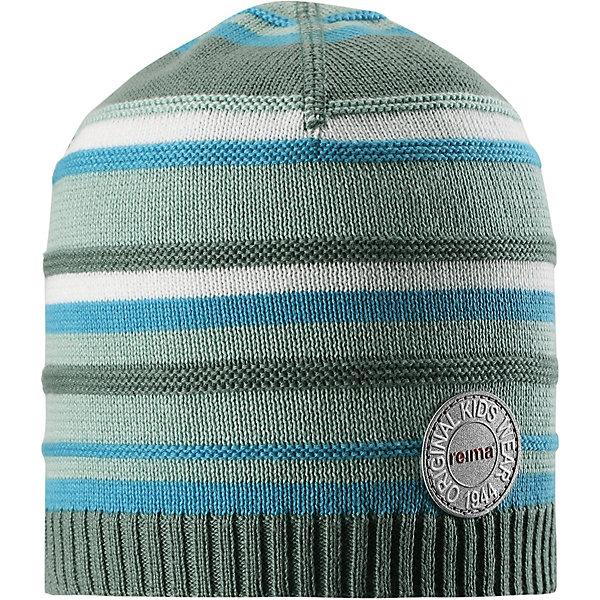 Шапка Niemi ReimaШапки и шарфы<br>Характеристики товара:<br><br>• цвет: зелёный;<br>• состав: 100% хлопок;<br>• без подкладки;<br>• без дополнительного утепления;<br>• сезон: демисезон;<br>• температурный режим: от +5 до +15С;<br>• застёжка: шапка на завязках;<br>• хлопчатобумажная ткань;<br>• товар сертифицирован Oeko-Tex;<br>• завязки в размерах 44/46 и 48/50;<br>• лёгкий стиль, без подкладки;<br>• узор из цветных полос;<br>• светоотражающие элементы;<br>• страна бренда: Финляндия.<br><br>Легкая трикотажная шапка из хлопка без подкладки – идеальный вариант на летний вечер в ветреную погоду. Завязки имеются только в размерах 44/46 и 48/50. <br><br>Шапку Reima от финского бренда Reima (Рейма) можно купить в нашем интернет-магазине.<br>Ширина мм: 89; Глубина мм: 117; Высота мм: 44; Вес г: 155; Цвет: зеленый; Возраст от месяцев: 18; Возраст до месяцев: 24; Пол: Унисекс; Возраст: Детский; Размер: 44,56,52,48; SKU: 7633733;