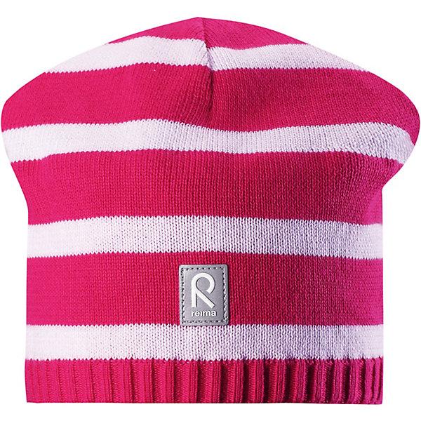 Шапка Haapa ReimaШапки и шарфы<br>Характеристики товара:<br><br>• цвет: розовый;<br>• состав: 100% хлопок;<br>• подкладка: хлопковый трикотаж;<br>• без дополнительного утепления;<br>• сезон: демисезон;<br>• температурный режим: от +5 до +15С;<br>• без застёжки;<br>• хлопчатобумажная ткань;<br>• товар сертифицирован Oeko-Tex;<br>• ветронепроницаемые вставки в области ушей;<br>• частичная подкладка: хлопчатобумажная ткань;<br>• светоотражающие элементы;<br>• страна бренда: Финляндия.<br><br>Классическая хлопковая шапка просто незаменима в прохладную весеннюю пору! Эта детская шапка сшита из эластичного и дышащего хлопкового трикотажа на полуподкладке из гладкого хлопкового джерси.<br><br>Шапку Reima от финского бренда Reima (Рейма) можно купить в нашем интернет-магазине.<br>Ширина мм: 89; Глубина мм: 117; Высота мм: 44; Вес г: 155; Цвет: розовый; Возраст от месяцев: 18; Возраст до месяцев: 24; Пол: Унисекс; Возраст: Детский; Размер: 56,52,48; SKU: 7633785;