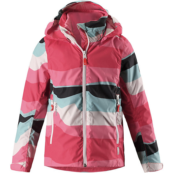Куртка Tibia Reimatec® Reima для девочкиОдежда<br>Характеристики товара:<br><br>• цвет: розовый в полоску;<br>• состав: 100% полиамид, полиуретановое покрытие;<br>• подкладка: 100% полиэстер;<br>• без дополнительного утепления;<br>• сезон: демисезон;<br>• температурный режим: от +5° до +15°С;<br>• водонепроницаемость: 5000 мм;<br>• воздухопроницаемость: 8000 мм;<br>• износостойкость: 15000 циклов (тест Мартиндейла);<br>• застёжка: молния с защитой подбородка;<br>• все швы проклеены и водонепроницаемы;<br>• внутренняя отстегивающаяся флисовая кофта с нагрудным карманом;<br>• подкладка из mesh-сетки;<br>• безопасный съёмный и регулируемый капюшон;<br>• эластичные манжеты на рукавах;<br>• регулируемый подол;<br>• карман с креплениями для сенсора ReimaGO®;<br>• карманы на молнии;<br>• светоотражающие детали;<br>• страна бренда: Финляндия.<br><br>Что удерживает ветер снаружи, но при этом дышит Ждет ли тебя увлекательный день в школе или веселое велосипедное путешествие по лесу – эта куртка для подростков из материала softshell станет нарядом номер один для ранней весенней поры! Водо- и ветронепроницаемой материал хорошо дышит и имеет грязеотталкивающую поверхность – отличное сочетание для холодных весенних дней и переменчивой погоды. <br><br>Безопасный съемный капюшон обеспечивает дополнительную защиту в дождливую погоду и легко отстегивается, если случайно за что-нибудь зацепится. А благодаря удобным карманам на молнии телефон и ключи от дома ни за что не потеряются. То, что нужно всем маленьким активным любителям приключений!<br><br>Куртку Reima от финского бренда Reima (Рейма) можно купить в нашем интернет-магазине.