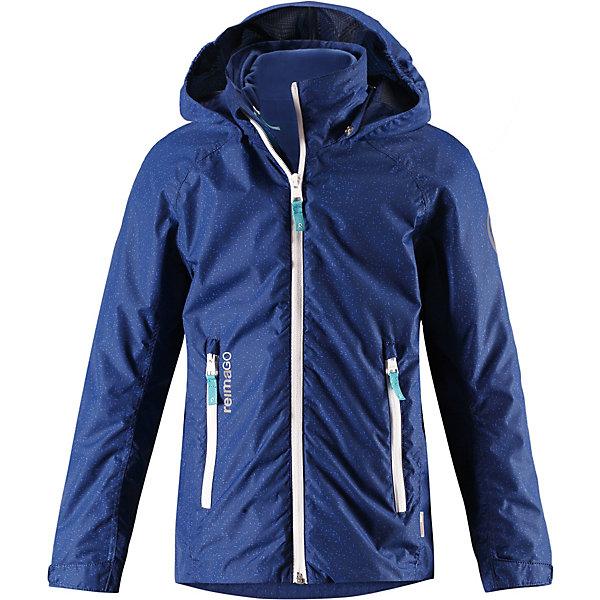 Куртка Travel Reimatec® Reima для мальчикаОдежда<br>Характеристики товара:<br><br>• цвет: синий;<br>• состав: 100% полиамид, полиуретановое покрытие;<br>• подкладка: 100% полиэстер;<br>• без дополнительного утепления;<br>• сезон: демисезон;<br>• температурный режим: от +5° до +15°С;<br>• водонепроницаемость: 5000 мм;<br>• воздухопроницаемость: 8000 мм;<br>• износостойкость: 15000 циклов (тест Мартиндейла);<br>• застёжка: молния с защитой подбородка;<br>• все швы проклеены и водонепроницаемы;<br>• внутренняя отстегивающаяся флисовая кофта с нагрудным карманом;<br>• подкладка из mesh-сетки;<br>• безопасный съёмный и регулируемый капюшон;<br>• регулируемые манжеты;<br>• регулируемый подол;<br>• карман с креплениями для сенсора ReimaGO®;<br>• карманы на молнии;<br>• светоотражающие детали;<br>• страна бренда: Финляндия.<br><br>Демисезонная куртка Reimatec® для подростков снабжена съемной внутренней флисовой кофтой! Верхняя куртка изготовлена из абсолютно водо- и ветронепроницаемого, дышащего материала. Швы проклеены, водонепроницаемы. В теплую погоду можно сделать куртку легче, отстегнув внутреннюю флисовую кофту. А в теплый погожий денек мягкая и легкая флисовая кофта будет отлично смотреться сама по себе и отлично согреет ребенка во время прогулки. <br><br>Подол легко регулируется, что позволяет подогнать куртку идеально по фигуре. Безопасный капюшон защищает от пронизывающего ветра, а карманы на молнии надежно сохранят телефон и ключи во время веселых игр на воздухе. Спортивный укороченный покрой в весенних расцветках с множеством продуманных деталей.<br><br>Куртку Reima от финского бренда Reima (Рейма) можно купить в нашем интернет-магазине.<br>Ширина мм: 356; Глубина мм: 10; Высота мм: 245; Вес г: 519; Цвет: синий; Возраст от месяцев: 36; Возраст до месяцев: 48; Пол: Мужской; Возраст: Детский; Размер: 164,104,158,152,146,140,134,128,122,116,110; SKU: 7633992;
