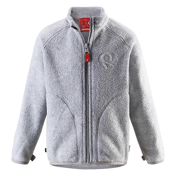 Флисовая кофта Inrun ReimaФлис и термобелье<br>Характеристики товара:<br><br>• цвет: серый;<br>• состав: 100% полиэстер, флис;<br>• сезон: демисезон;<br>• застёжка: молния с защитой подбородка;<br>• флисовая куртка для подростков;<br>• выводит влагу наружу;<br>• тёплый, лёгкий и быстросохнущий флис;<br>• может пристегиваться к верхней одежде Reima® кнопками Play Layers®;<br>• эластичные манжеты и подол;<br>• два боковых кармана;<br>• карман со специальными креплениями для сенсора ReimaGO® в моделях 104 размера и более;<br>• страна бренда: Финляндия.<br><br>Детская куртка из флиса идеально подойдет в качесте промежуточного слоя в холодную погоду, так как обеспечивает тепло, очень мягое и приятен коже. Эта куртка сделана из легкого дышащего флиса, быстро сохнет и обеспечивает комфорт во время активных прогулок. Молния на всю длину облегчает надевание, не царапает шею и подбородок. <br><br>Эта функциональная куртка из флиса легко подстегивается к любой верхней одежде Reima® с помощью специальных кнопок Play Layers®. Новинка в Play Layers® этой осени: двусторонняя молния позволяет легко застегивать и растегивать одежду. <br><br>Флисовую кофту Reima от финского бренда Reima (Рейма) можно купить в нашем интернет-магазине.<br>Ширина мм: 219; Глубина мм: 11; Высота мм: 262; Вес г: 314; Цвет: серый; Возраст от месяцев: 18; Возраст до месяцев: 24; Пол: Унисекс; Возраст: Детский; Размер: 92,164,158,152,146,140,134,128,122,116,110,104,98; SKU: 7634260;
