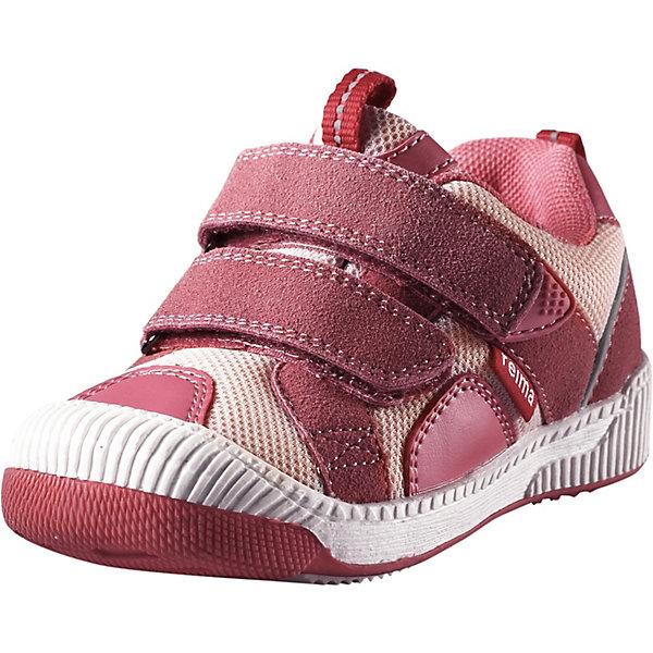 Ботинки Knappe Reima для девочкиОбувь<br>Характеристики товара:<br><br>• цвет: розовый;<br>• внешний материал: полиэстер, полиуретан, текстиль;<br>• внутренний материал: текстиль;<br>• стелька: ЭВА;<br>• подошва: термопластичная резина;<br>• сезон: демисезон;<br>• температурный режим: от +5С;<br>• застёжка: два ремешка на липучках;<br>• водонепроницаемая демисезонная обувь;<br>• верх из синтетического материала и текстиля;<br>• подошва из термопластичного каучука обеспечивает хорошее сцепление с поверхностью;<br>• водонепроницаемые, герметичные вставки с подкладкой из mesh-сетки;<br>• съемные формованные стельки из ЭВА с подкладкой из лайкры и рисунком Happy Fit, который помогает определить размер;<br>• можно стирать в машине при температуре 30С;<br>• застежки на липучках обеспечивают простоту использования;<br>• светоотражающие детали;<br>• страна бренда: Финляндия;<br><br>Эти легкие, гибкие и дышащие ботинки для малышей очень практичны, ведь их можно носить с весны и до осени. Они подойдут и для игр на детской площадке, и для прогулок по городу, и даже для турпохода. Подошва из термопластичной резины нигде не будет скользить. Верх изготовлен из грязеотталкивающего синтетического материала и текстиля с мягкой текстильной подкладкой внутри. <br><br>Специальная конструкция этих ботинок разработана, чтобы поддерживать нормальное развитие детской стопы, а съемные стельки с рисунком Happy Fit® помогут подобрать правильный размер. Благодаря регулируемым ремешкам на липучке, малыши смогут надеть эти ботинки сами. Обратите внимание! Эти ботинки можно стирать в стиральной машине при 30°<br><br>Ботинки Reima от финского бренда Reima (Рейма) можно купить в нашем интернет-магазине.<br>Ширина мм: 250; Глубина мм: 150; Высота мм: 150; Вес г: 250; Цвет: розовый; Возраст от месяцев: 24; Возраст до месяцев: 24; Пол: Женский; Возраст: Детский; Размер: 25,24,23,22,27,26; SKU: 7634299;