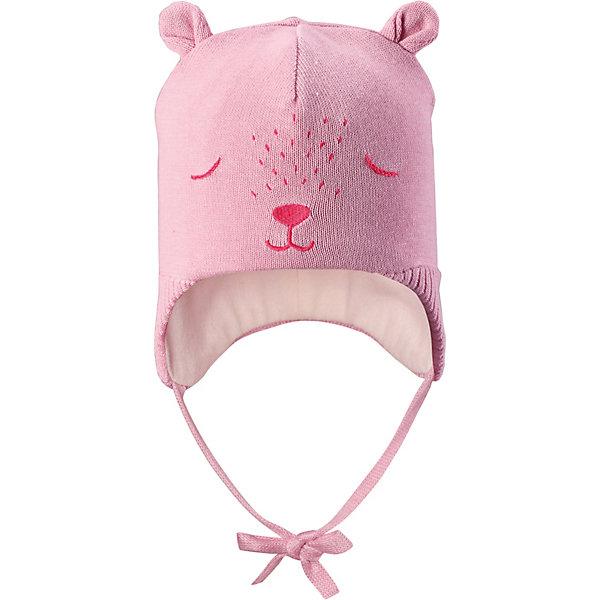 Шапка LassieШапки и шарфы<br>Характеристики товара:<br><br>• цвет: розовый;<br>• состав: 100% хлопок;<br>• подкладка: 97% хлопок, 3% эластан;<br>• без дополнительного утепления;<br>• сезон: демисезон;<br>• температурный режим: от +5 до +15С;<br>• застёжка: шапка на завязках;<br>• ветронепроницаемые вставки в области ушей;<br>• сплошная подкладка из мягкого трикотажа;<br>• светоотражающие элементы;<br>• страна бренда: Финляндия.<br><br>Очаровательная шапка для малышей! Она изготовлена из очень удобного эластичного материала на подкладке из гладкого хлопкового джерси. Ветронепроницаемые вставки в области ушей обеспечат тепло и уют в ветреную погоду, а завязки не дадут шапке сползать.<br><br>Шапку Lassie (Ласси) можно купить в нашем интернет-магазине.<br>Ширина мм: 89; Глубина мм: 117; Высота мм: 44; Вес г: 155; Цвет: розовый; Возраст от месяцев: 9; Возраст до месяцев: 12; Пол: Унисекс; Возраст: Детский; Размер: 42-44,50-52,46-48,44-46; SKU: 7635327;