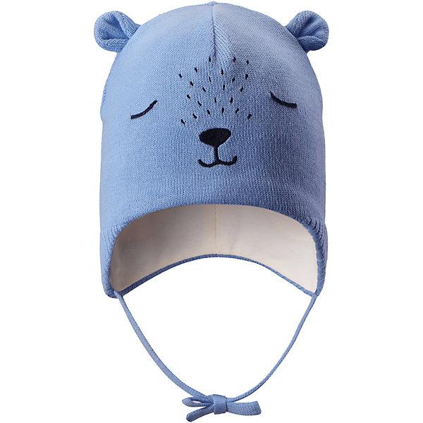 Шапка Lassie для мальчикаШапки и шарфы<br>Характеристики товара:<br><br>• цвет: синий;<br>• состав: 100% хлопок;<br>• подкладка: 97% хлопок, 3% эластан;<br>• без дополнительного утепления;<br>• сезон: демисезон;<br>• температурный режим: от +5 до +15С;<br>• застёжка: шапка на завязках;<br>• ветронепроницаемые вставки в области ушей;<br>• сплошная подкладка из мягкого трикотажа;<br>• светоотражающие элементы;<br>• страна бренда: Финляндия.<br><br>Очаровательная шапка для малышей! Она изготовлена из очень удобного эластичного материала на подкладке из гладкого хлопкового джерси. Ветронепроницаемые вставки в области ушей обеспечат тепло и уют в ветреную погоду, а завязки не дадут шапке сползать.<br><br>Шапку Lassie (Ласси) можно купить в нашем интернет-магазине.<br>Ширина мм: 89; Глубина мм: 117; Высота мм: 44; Вес г: 155; Цвет: синий; Возраст от месяцев: 9; Возраст до месяцев: 12; Пол: Унисекс; Возраст: Детский; Размер: 42-44,50-52,46-48,44-46; SKU: 7635332;