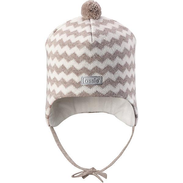 Шапка LassieШапки и шарфы<br>Характеристики товара:<br><br>• цвет: коричневый;<br>• состав: 100% хлопок;<br>• подкладка: 97% хлопок, 3% эластан;<br>• без дополнительного утепления;<br>• сезон: демисезон;<br>• температурный режим: от +5 до +15С;<br>• застёжка: шапка на завязках;<br>• ветронепроницаемые вставки в области ушей;<br>• сплошная подкладка из мягкого трикотажа;<br>• светоотражающие элементы;<br>• страна бренда: Финляндия.<br><br>Очаровательная шапка для малышей! Она изготовлена из очень удобного эластичного материала на подкладке из гладкого хлопкового джерси. Ветронепроницаемые вставки в области ушей обеспечат тепло и уют в ветреную погоду, а завязки не дадут шапке сползать.<br><br>Шапку Lassie (Ласси) можно купить в нашем интернет-магазине.<br>Ширина мм: 89; Глубина мм: 117; Высота мм: 44; Вес г: 155; Цвет: коричневый; Возраст от месяцев: 9; Возраст до месяцев: 12; Пол: Унисекс; Возраст: Детский; Размер: 42-44,50-52,46-48,44-46; SKU: 7635337;
