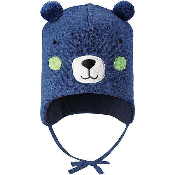 Шапка Lassie для мальчикаШапки и шарфы<br>Характеристики товара:<br><br>• цвет: синий;<br>• состав: 100% хлопок;<br>• подкладка: 97% хлопок, 3% эластан;<br>• без дополнительного утепления;<br>• сезон: демисезон;<br>• температурный режим: от +5 до +15С;<br>• застёжка: шапка на завязках;<br>• эластичная хлопчатобумажная ткань;<br>• ветронепроницаемые вставки в области ушей;<br>• светоотражающие элементы;<br>• страна бренда: Финляндия.<br><br>Очаровательная шапка для малышей! Она изготовлена из очень удобного эластичного материала на подкладке из гладкого хлопкового джерси. Ветронепроницаемые вставки в области ушей обеспечат тепло и уют в ветреную погоду, а завязки не дадут шапке сползать.<br><br>Шапку Lassie (Ласси) можно купить в нашем интернет-магазине.<br>Ширина мм: 89; Глубина мм: 117; Высота мм: 44; Вес г: 155; Цвет: синий; Возраст от месяцев: 12; Возраст до месяцев: 24; Пол: Унисекс; Возраст: Детский; Размер: 50-52,46-48,44-46; SKU: 7635388;