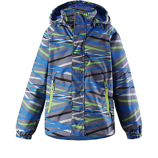 Куртка Lassietec® LassieОдежда<br>Характеристики товара:<br><br>• цвет: синий;<br>• состав: 100% полиэстер, полиуретановое покрытие;<br>• подкладка: 100% полиэстер;<br>• без дополнительного утепления;<br>• сезон: демисезон;<br>• температурный режим: от +5° до +15°С;<br>• водонепроницаемость: 5000 мм;<br>• воздухопроницаемость: 5000 мм;<br>• износостойкость: 20000 циклов (тест Мартиндейла);<br>• застёжка: молния с защитой подбородка;<br>• водо- и ветронепроницаемый, дышащий материал;<br>• внешние швы проклеены;<br>• гладкая подкладка из полиэстера;<br>• безопасный съёмный капюшон;<br>• эластичные манжеты;<br>• регулируемый подол;<br>• карманы на молнии;<br>• светоотражающие детали;<br>• страна бренда: Финляндия.<br><br>Детская демисезонная куртка Lassietec® с дышащей и комфортной сетчатой подкладкой. Для ее пошива мы использовали функциональный материал – водонепроницаемый, ветронепроницаемый и дышащий. Основные швы проклеены и водонепроницаемы, поэтому небольшой дождь не помешает веселой прогулке! Съемный капюшон защищает от холодного ветра, а еще обеспечивает дополнительную безопасность во время игр на улице — кнопки капюшона легко отстегнутся, если он, например, случайно зацепится за ветку. Куртка снабжена нагрудным карманом на молнии, карманами, вшитыми в швы.<br><br>Куртку Lassie (Ласси) можно купить в нашем интернет-магазине.<br>Ширина мм: 356; Глубина мм: 10; Высота мм: 245; Вес г: 519; Цвет: синий; Возраст от месяцев: 18; Возраст до месяцев: 24; Пол: Унисекс; Возраст: Детский; Размер: 140,134,128,122,116,110,104,98,92; SKU: 7635651;