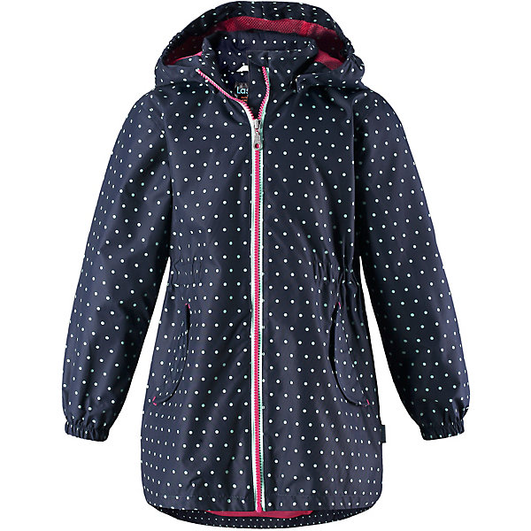 Куртка Lassie для девочкиОдежда<br>Характеристики товара:<br><br>• цвет: синий;<br>• состав: 100% полиэстер, полиуретановое покрытие;<br>• подкладка: 100% полиэстер;<br>• без дополнительного утепления;<br>• сезон: демисезон;<br>• температурный режим: от +5° до +15°С;<br>• водонепроницаемость: 1000 мм;<br>• воздухопроницаемость: 2000 мм;<br>• износостойкость: 20000 циклов (тест Мартиндейла);<br>• застёжка: молния с защитой подбородка;<br>• водоотталкивающий, ветронепроницаемый и дышащий материал;<br>• все швы проклеены и водонепроницаемы;<br>• подкладка из mesh-сетки;<br>• безопасный съёмный капюшон;<br>• эластичная талия;<br>• эластичные манжеты;<br>• карманы с клапанами;<br>• светоотражающие детали;<br>• страна бренда: Финляндия.<br><br>Куртка изготовлена из водоотталкивающей и ветрозащитной ткани. Материал отличается высокой устойчивостью к трению, благодаря специальной обработке полиуретаном поверхность изделия отталкивает грязь и воду, что облегчает поддержание аккуратного вида одежды, дышащее покрытие с изнаночной части не раздражает даже самую нежную и чувствительную кожу ребенка, обеспечивая ему наибольший комфорт. <br><br>Куртка застегивается на пластиковую застежку-молнию с защитой подбородка, благодаря чему ее легко надевать и снимать. Края рукавов дополнены неширокими эластичными манжетами. Также модель дополнена светоотражающими элементами для безопасности в темное время суток. Все швы проклеены, не пропускают влагу и ветер.<br><br>Куртку Lassie (Ласси) можно купить в нашем интернет-магазине.<br>Ширина мм: 356; Глубина мм: 10; Высота мм: 245; Вес г: 519; Цвет: синий; Возраст от месяцев: 18; Возраст до месяцев: 24; Пол: Женский; Возраст: Детский; Размер: 92,140,122,116,110,104,98,134,128; SKU: 7635681;