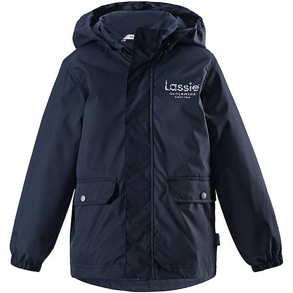 Куртка Lassie для мальчикаОдежда<br>Характеристики товара:<br><br>• цвет: тёмно-синий;<br>• состав: 100% полиэстер, полиуретановое покрытие;<br>• подкладка: 100% полиэстер;<br>• утеплитель: 100% полиэстер, 80 гр м/2;<br>• сезон: демисезон;<br>• температурный режим: от +5° до +15°С;<br>• водонепроницаемость: 1000 мм;<br>• воздухопроницаемость: 2000 мм;<br>• износостойкость: 20000 циклов (тест Мартиндейла);<br>• застёжка: молния с защитой подбородка;<br>• водо- и  ветронепроницаемый, дышащий материал;<br>• удлинённая спинка;<br>• гладкая подкладка из полиэстера;<br>• безопасный съёмный капюшон;<br>• эластичные манжеты;<br>• карманы с клапанами;<br>• светоотражающие детали;<br>• страна бренда: Финляндия.<br><br>Демисезонная куртка для мальчиков защищает от ветра. Дышащий ветронепроницаемый материал имеет водоотталкивающую поверхность. Куртка подшита гладкой подкладкой из полиэстера на легком утеплителе. Практичные детали просто незаменимы: эластичные манжеты, светоотражающие элементы, безопасный съемный капюшон и два кармана с клапанами, которые превосходно вместят все самое важное. Эта куртка превосходно вам послужит и весной, и осенью!<br><br>Куртку Lassie (Ласси) можно купить в нашем интернет-магазине.<br>Ширина мм: 356; Глубина мм: 10; Высота мм: 245; Вес г: 519; Цвет: синий; Возраст от месяцев: 18; Возраст до месяцев: 24; Пол: Мужской; Возраст: Детский; Размер: 92,140,134,128,122,116,110,104,98; SKU: 7635691;