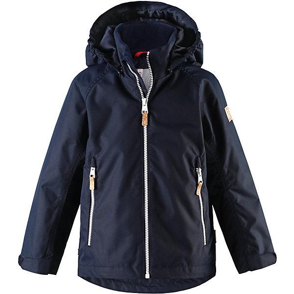 Куртка Soutu Reimatec® Reima для мальчикаОдежда<br>Характеристики товара:<br><br>• цвет: тёмно-синий;<br>• состав: 100% полиамид, полиуретановое покрытие;<br>• подкладка: 100% полиэстер;<br>• лёгкая степень утепления;<br>• сезон: демисезон;<br>• температурный режим: от +5° до +15°С;<br>• водонепроницаемость: 8000 мм;<br>• воздухопроницаемость: 7000 мм;<br>• износостойкость: 30000 циклов (тест Мартиндейла);<br>• застёжка: молния с защитой подбородка;<br>• водо- и  ветронепроницаемый, дышащий и грязеотталкивающий материал;<br>• водо- и грязеотталкивающая пропитка без содержания фторуглеродов BIONIC-FINISH®ECO;<br>• основные швы проклеены и не пропускают влагу;<br>• гладкая подкладка из полиэстера;<br>• безопасный съёмный капюшон;<br>• регулируемые манжеты и подол;<br>• карман со специальными креплениями для сенсора ReimaGO® в моделях 104 размера и более;<br>• два кармана на молнии;<br>• светоотражающие детали;<br>• страна бренда: Финляндия.<br><br>Все основные швы в этой демисезонной детской куртке Reimatec® герметично запаяны, а сама она сшита из водо- и ветронепроницаемого, грязеотталкивающего, но при этом дышащего материала. Безопасный съемный капюшон легко отстегивается, если случайно за что-нибудь зацепится, а ключи от дома будут надежно спрятаны в карманах на молнии. Благодаря регулируемым манжетам и подолу куртка хорошо прилегает к телу и не пропускает ветер.<br><br>Куртку Reima от финского бренда Reima (Рейма) можно купить в нашем интернет-магазине.<br>Ширина мм: 356; Глубина мм: 10; Высота мм: 245; Вес г: 519; Цвет: синий; Возраст от месяцев: 18; Возраст до месяцев: 24; Пол: Мужской; Возраст: Детский; Размер: 92,152,146,140,134,128,122,116,110,104,98; SKU: 7636754;