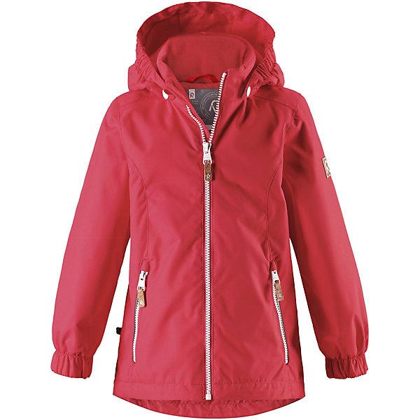 Куртка Anise Reimatec® Reima для девочкиОдежда<br>Характеристики товара:<br><br>• цвет: красный;<br>• состав: 100% полиамид, полиуретановое покрытие;<br>• подкладка: 100% полиэстер;<br>• утеплитель 80 гр;<br>• сезон: демисезон;<br>• температурный режим: от -10° до +5°С;<br>• водонепроницаемость: 8000 мм;<br>• воздухопроницаемость: 7000 мм;<br>• износостойкость: 30000 циклов (тест Мартиндейла);<br>• застёжка: молния с защитой подбородка;<br>• водо- и  ветронепроницаемый, дышащий и грязеотталкивающий материал;<br>• водо- и грязеотталкивающая пропитка без содержания фторуглеродов BIONIC-FINISH®ECO;<br>• основные швы проклеены и не пропускают влагу;<br>• гладкая подкладка из полиэстера;<br>• безопасный съёмный капюшон;<br>• регулируемый обхват талии и подол;<br>• карман с креплениями для сенсора ReimaGO®;<br>• два кармана на молнии;<br>• светоотражающие детали;<br>• страна бренда: Финляндия.<br><br>Красивая, удлиненная демисезонная куртка для детей эффективно защищает от ветра. Дышащий материал также является водо- и грязеотталкивающим, а основные швы данной куртки проклеены для создания водонепроницаемости. Гладкая подкладка из полиэстера облегчает одевание и превращает его в веселый процесс. Отстегивающийся капюшон и светоотражающие детали обеспечивают безопасность во время прогулок в поисках впечатлений, а карманы с клапанами идеально подходят для хранения маленьких ценностей.<br><br>Куртку Reima от финского бренда Reima (Рейма) можно купить в нашем интернет-магазине.<br>Ширина мм: 356; Глубина мм: 10; Высота мм: 245; Вес г: 519; Цвет: красный; Возраст от месяцев: 18; Возраст до месяцев: 24; Пол: Женский; Возраст: Детский; Размер: 92,140,134,128,122,116,110,104,98; SKU: 7636778;