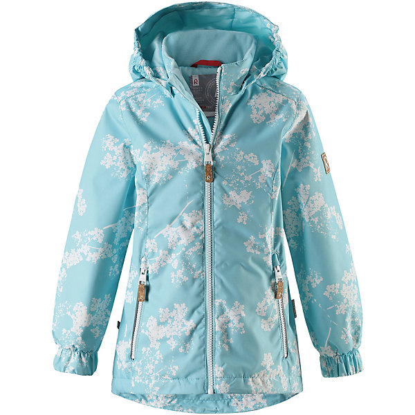 Куртка Anise Reimatec® Reima для девочкиОдежда<br>Характеристики товара:<br><br>• цвет: голубой принт;<br>• состав: 100% полиамид, полиуретановое покрытие;<br>• подкладка: 100% полиэстер;<br>• утеплитель 80 гр;<br>• сезон: демисезон;<br>• температурный режим: от -10° до +5°С;<br>• водонепроницаемость: 8000 мм;<br>• воздухопроницаемость: 7000 мм;<br>• износостойкость: 30000 циклов (тест Мартиндейла);<br>• застёжка: молния с защитой подбородка;<br>• водо- и  ветронепроницаемый, дышащий и грязеотталкивающий материал;<br>• водо- и грязеотталкивающая пропитка без содержания фторуглеродов BIONIC-FINISH®ECO;<br>• основные швы проклеены и не пропускают влагу;<br>• гладкая подкладка из полиэстера;<br>• безопасный съёмный капюшон;<br>• регулируемый обхват талии и подол;<br>• карман с креплениями для сенсора ReimaGO®;<br>• два кармана на молнии;<br>• светоотражающие детали;<br>• страна бренда: Финляндия.<br><br>Красивая, удлиненная демисезонная куртка для детей эффективно защищает от ветра. Дышащий материал также является водо- и грязеотталкивающим, а основные швы данной куртки проклеены для создания водонепроницаемости. Гладкая подкладка из полиэстера облегчает одевание и превращает его в веселый процесс. Отстегивающийся капюшон и светоотражающие детали обеспечивают безопасность во время прогулок в поисках впечатлений, а карманы с клапанами идеально подходят для хранения маленьких ценностей.<br><br>Куртку Reima от финского бренда Reima (Рейма) можно купить в нашем интернет-магазине.<br>Ширина мм: 356; Глубина мм: 10; Высота мм: 245; Вес г: 519; Цвет: зеленый; Возраст от месяцев: 108; Возраст до месяцев: 120; Пол: Женский; Возраст: Детский; Размер: 140,92,134,128,122,116,110,104,98; SKU: 7636798;