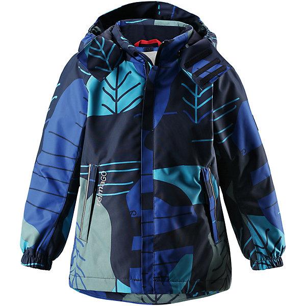 Куртка Korte Reimatec® Reima для мальчикаВерхняя одежда<br>Характеристики товара:<br><br>• цвет: синий принт;<br>• состав: 100% полиамид, полиуретановое покрытие;<br>• подкладка: 100% полиэстер;<br>• утеплитель 80 гр;<br>• сезон: демисезон;<br>• температурный режим: от -10° до +5°С;<br>• водонепроницаемость: 15000 мм;<br>• воздухопроницаемость: 7000 мм;<br>• износостойкость: 40000 циклов (тест Мартиндейла);<br>• застёжка: молния с защитой подбородка;<br>• водо- и  ветронепроницаемый, дышащий и грязеотталкивающий материал;<br>• водо- и грязеотталкивающая пропитка без содержания фторуглеродов BIONIC-FINISH®ECO;<br>• все швы проклеены и не пропускают влагу;<br>• гладкая подкладка из полиэстера;<br>• безопасный съёмный и регулируемый капюшон;<br>• эластичные манжеты на рукавах;<br>• регулируемый подол;<br>• карман со специальными креплениями для сенсора ReimaGO® в моделях 104 размера и более;<br>• два кармана на молнии;<br>• светоотражающие детали;<br>• страна бренда: Финляндия.<br><br>Абсолютно водо- и ветронепроницаемая демисезонная куртка Reimatec®. Все швы в ней запаяны, а сама она снабжена множеством практичных деталей, например, съемным капюшоном, который легко отстегивается, если за что-нибудь зацепится. Эластичные манжеты и регулируемый подол не пропускают ветер. Ну а карманы на молнии надежно сохранят ключи от дома и найденные на прогулке сокровища. В этой куртке даже дождь не помешает веселым играм на улице!<br><br>Куртку Reima от финского бренда Reima (Рейма) можно купить в нашем интернет-магазине.<br>Ширина мм: 356; Глубина мм: 10; Высота мм: 245; Вес г: 519; Цвет: синий; Возраст от месяцев: 84; Возраст до месяцев: 96; Пол: Мужской; Возраст: Детский; Размер: 128,122,116,110,104,152,146,140,134; SKU: 7636808;