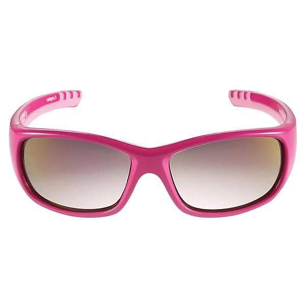 Солнцезащитные очки Sereno ReimaАксессуары<br>Характеристики товара:<br><br>• цвет: розовый;<br>• оправа: TPEE/TPR/TR90/Резина;<br>• линзы: PC;<br>• сезон: лето;<br>• солнцезащитные очки для детей;<br>• рекомендуется для детей возраста 4+;<br>• защита от ультрафиолетовых лучей спектра A и спектра B класса 5;<br>• зеркальные линзы, обработанные противотуманным покрытием;<br>• мягкая и эластичная оправа из TPEE и резины;<br>• имеется защитный чехол;<br>• европейский сертификат соответствия;<br>• страна бренда: Финляндия.<br><br>Стильные детские солнцезащитные очки с эффективной защитой от вредного ультрафиолета: линзы обеспечивают комплексную защиту от УФА и УФВ лучей, а сами очки сертифицированы по стандартам ЕС. Поляризованные зеркальные линзы улучшают видимость за счет блокирования бликов, особенно когда вокруг много снега или воды. <br><br>Модный дизайн подойдет на все случаи жизни веселые расцветки отлично сочетаются с разной одеждой. Очки поставляются в комплекте с удобным чехлом для защиты и хранения.<br><br>Солнцезащитные очки Reima от финского бренда Reima (Рейма) можно купить в нашем интернет-магазине.<br>Ширина мм: 170; Глубина мм: 157; Высота мм: 67; Вес г: 117; Цвет: фуксия; Возраст от месяцев: 48; Возраст до месяцев: 168; Пол: Унисекс; Возраст: Детский; Размер: one size; SKU: 7636910;