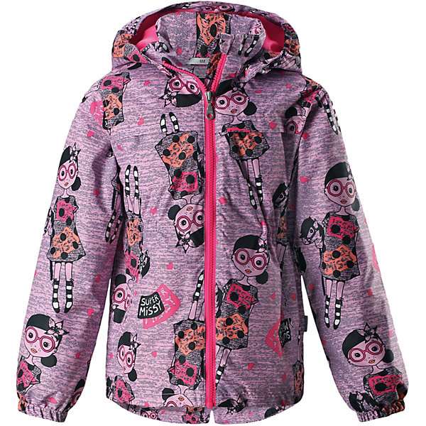 Куртка Lassie для девочкиДемисезонные куртки<br>Характеристики товара:<br><br>• цвет: розовый;<br>• состав: 100% полиэстер, полиуретановое покрытие;<br>• подкладка: 100% полиэстер;<br>• утеплитель: 100% полиэстер, 80 гр. м/2;<br>• сезон: демисезон;<br>• температурный режим: от -10° до +5°С;<br>• водонепроницаемость: 1000 мм;<br>• воздухопроницаемость: 2000 мм;<br>• износостойкость: 15000 циклов (тест Мартиндейла);<br>• застёжка: молния с защитой подбородка;<br>• водоотталкивающий, ветронепроницаемый и «дышащий» материал;<br>• подкладка из mesh-сетки;<br>• безопасный съёмный капюшон;<br>• эластичные манжеты;<br>• эластичная талия;<br>• два прорезных кармана;<br>• светоотражающие детали;<br>• страна бренда: Финляндия.<br><br>Стильная демисезонная куртка для девочек изготовлена из водоотталкивающего, ветронепроницаемого и дышащего материала. Гладкая и приятная на ощупь подкладка из полиэстера на легком утеплителе согревает и облегчает процесс одевания. Удлиненная модель для девочек с эластичной талией, подолом и манжетами. Практичные детали просто незаменимы: безопасный съемный капюшон, карманы, вшитые в боковые швы, и светоотражающая эмблема сзади. Получите безупречный вкус, простоту и качество, основанные на практичности.<br><br>Куртку Lassie (Ласси) можно купить в нашем интернет-магазине.<br>Ширина мм: 356; Глубина мм: 10; Высота мм: 245; Вес г: 519; Цвет: розовый; Возраст от месяцев: 48; Возраст до месяцев: 60; Пол: Женский; Возраст: Детский; Размер: 110,140,134,128,122,116,104,98,92; SKU: 7637036;