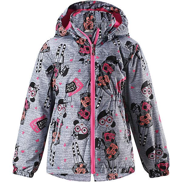 Куртка Lassie для девочкиВерхняя одежда<br>Характеристики товара:<br><br>• цвет: серый;<br>• состав: 100% полиэстер, полиуретановое покрытие;<br>• подкладка: 100% полиэстер;<br>• утеплитель: 100% полиэстер, 80 гр. м/2;<br>• сезон: демисезон;<br>• температурный режим: от 0° до +10°С;<br>• водонепроницаемость: 1000 мм;<br>• воздухопроницаемость: 2000 мм;<br>• износостойкость: 15000 циклов (тест Мартиндейла);<br>• застёжка: молния с защитой подбородка;<br>• водоотталкивающий, ветронепроницаемый и «дышащий» материал;<br>• подкладка из mesh-сетки;<br>• безопасный съёмный капюшон;<br>• эластичные манжеты;<br>• эластичная талия;<br>• два прорезных кармана;<br>• светоотражающие детали;<br>• страна бренда: Финляндия.<br><br>Стильная демисезонная куртка для девочек изготовлена из водоотталкивающего, ветронепроницаемого и дышащего материала. Гладкая и приятная на ощупь подкладка из полиэстера на легком утеплителе согревает и облегчает процесс одевания. Удлиненная модель для девочек с эластичной талией, подолом и манжетами. Практичные детали просто незаменимы: безопасный съемный капюшон, карманы, вшитые в боковые швы, и светоотражающая эмблема сзади. Получите безупречный вкус, простоту и качество, основанные на практичности.<br><br>Куртку Lassie (Ласси) можно купить в нашем интернет-магазине.<br>Ширина мм: 356; Глубина мм: 10; Высота мм: 245; Вес г: 519; Цвет: серый; Возраст от месяцев: 60; Возраст до месяцев: 72; Пол: Женский; Возраст: Детский; Размер: 128,122,116,110,104,98,92,140,134; SKU: 7637066;
