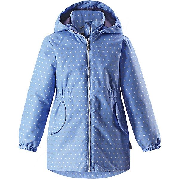 Куртка Lassie для девочкиДемисезонные куртки<br>Характеристики товара:<br><br>• цвет: голубой;<br>• состав: 100% полиэстер, полиуретановое покрытие;<br>• подкладка: 100% полиэстер;<br>• утеплитель: 100% полиэстер, 80 гр. м/2;<br>• сезон: демисезон;<br>• температурный режим: от -10° до +5°С;<br>• водонепроницаемость: 1000 мм;<br>• воздухопроницаемость: 2000 мм;<br>• износостойкость: 20000 циклов (тест Мартиндейла);<br>• застёжка: молния с защитой подбородка;<br>• водоотталкивающий, ветронепроницаемый и «дышащий» материал;<br>• подкладка из mesh-сетки;<br>• безопасный съёмный капюшон;<br>• эластичные манжеты;<br>• эластичная талия;<br>• карманы с клапанами;<br>• светоотражающие детали;<br>• страна бренда: Финляндия.<br><br>Удобная демисезонная куртка для девочек на утеплителе. Она изготовлена из водоотталкивающего и ветронепроницаемого материала, но при этом хорошо дышит. Куртка снабжена легким утеплителем и гладкой, мягкой на ощупь подкладкой из полиэстера, которая облегчает надевание. Съемный капюшон обеспечивает защиту от холодного ветра, а также безопасен во время игр на свежем воздухе! Благодаря эластичной талии и эластичному подолу эта удлиненная модель для девочек отлично сидит по фигуре. Снабжена множеством продуманных деталей, например, двумя карманами с клапанами, эластичными манжетами и молнией во всю длину с защитой для подбородка.<br><br>Куртку Lassie (Ласси) можно купить в нашем интернет-магазине.