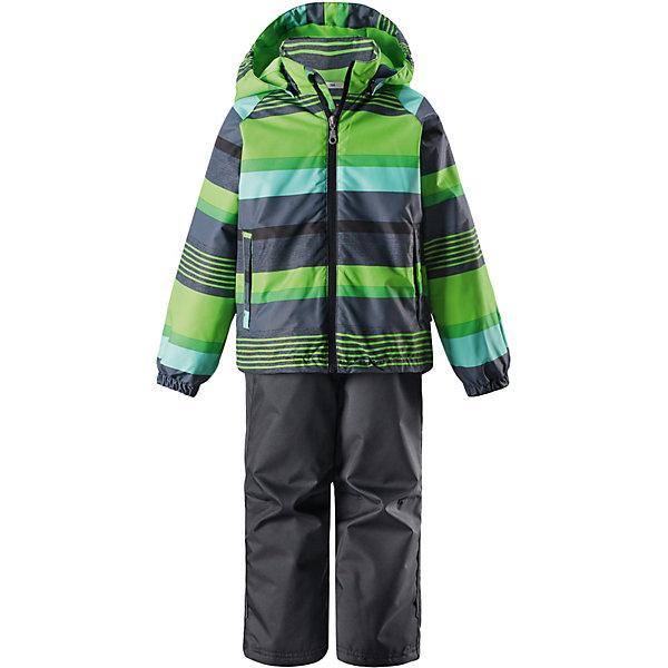 Комплект LassieВерхняя одежда<br>Характеристики товара:<br><br>• цвет: зелёный/серый;<br>• состав: 100% полиамид, полиуретановое покрытие;<br>• подкладка; 100% полиэстер;<br>• утеплитель: 100% полиэстер, 80 гр. м/2;<br>• сезон: демисезон;<br>• температурный режим: от -10° до +5°С;<br>• водонепроницаемость: 1000 мм;<br>• воздухопроницаемость: 2000/1000 мм;<br>• износостойкость: 20000/50000 циклов (тест Мартиндейла);<br>• застёжка: молния с защитой подбородка;<br>• водоотталкивающий, ветронепроницаемый и дышащий материал;<br>• задний серединный шов проклеен;<br>• сверхпрочный материал;<br>• подкладка из mesh-сетки;<br>• безопасный, съёмный капюшон;<br>• эластичные манжеты на рукавах и брючинах;<br>• эластичный регулируемый обхват талии;<br>• регулируемый подол;<br>• два прорезных кармана;<br>• светоотражающие детали;<br>• страна бренда: Финляндия.<br><br>Этот прочный детский демисезонный комплект на легком утеплителе станет идеальным выбором для игр на свежем воздухе. Водоотталкивающий и ветронепроницаемый материал хорошо пропускает воздух, так что в этой куртке не вспотеешь. Куртка снабжена безопасным съемным капюшоном и прочными усилениями на спинке. <br><br>Эластичный регулируемый подол позволяет подогнать куртку идеально по фигуре. Красивая и гладкая подкладка из полиэстера хорошо пропускает воздух и облегчает одевание. В куртке предусмотрены прорезные карманы, а в брюках — один карман. Брюки снабжены регулируемыми манжетами и съемными эластичными подтяжками, поэтому отлично сидят.<br><br>Комплект Lassie (Ласси) можно купить в нашем интернет-магазине.<br>Ширина мм: 356; Глубина мм: 10; Высота мм: 245; Вес г: 519; Цвет: зеленый; Возраст от месяцев: 18; Возраст до месяцев: 24; Пол: Унисекс; Возраст: Детский; Размер: 92,98,104,110,116,122,128,134,140; SKU: 7637186;