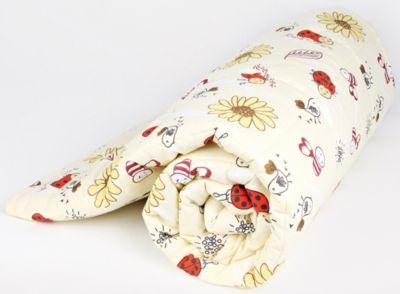 Стеганное одеяло Baby Nice,  Божья коровка  105х140см, файбер 300, бежевое, артикул:7674287 - Детский текстиль