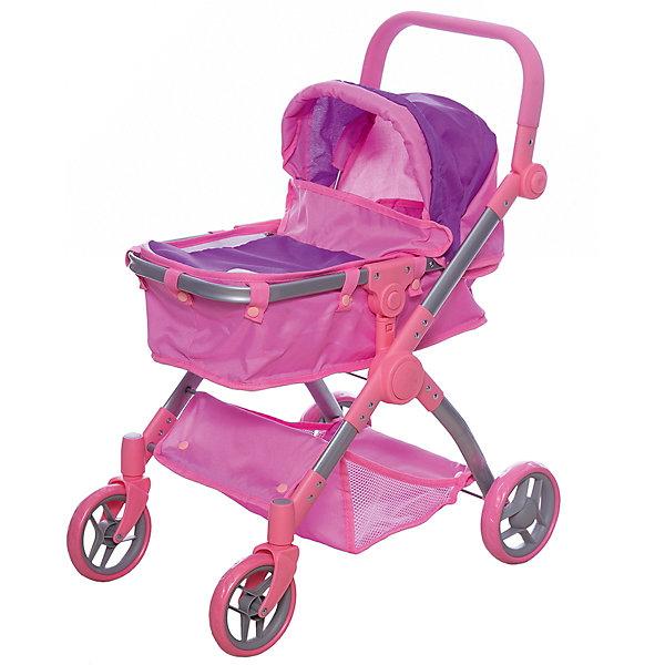 Melobo Коляска-трансформер для кукол, розовая, Melobo коляски для кукол melobo melogo трость 9302d