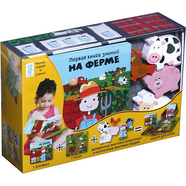 Махаон Первая книга знаний На ферме + набор игры