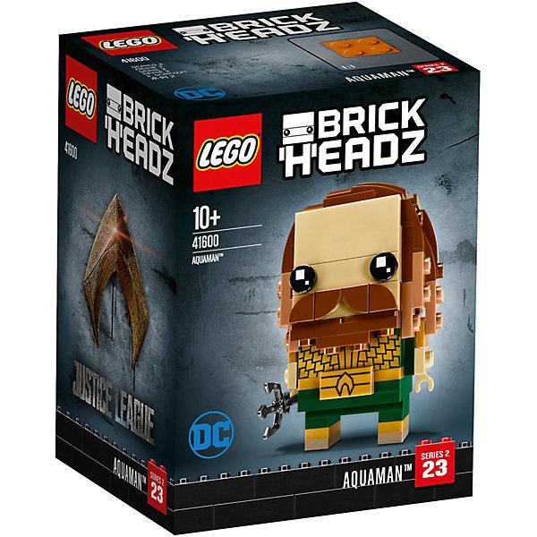 Сборная фигурка LEGO BrickHeadz 41600: АкваменLEGO<br>Характеристики товара:<br>• возраст: от 10 лет;<br>• серия LEGO: BrickHeadz;<br>• материал: пластик;<br>• количество деталей: 135 шт.;<br>• в наборе: детали, опорная плита 4х4х1 см;<br>• высота фигурки: 7 см;<br>• размер упаковки: 12х8х9 см;<br>• вес упаковки: 132 гр.;<br>• страна производитель: Чехия.<br><br>Сборная фигурка LEGO BrickHeadz 41600: «Аквамен» изображает одноименного персонажа из фильма «Лига справедливости». Красочные детали воссоздают отличительные особенности героя, включая бороду и волосы, прорисованную броню и пряжку.<br>С фигуркой интересно играть, придумывать разнообразные сюжеты. Также игрушка может стать частью коллекции и располагаться на пьедестале. Набор выполнен из качественного безопасного пластика.<br><br>Особенности и функционал:<br>• съемный трезубец;<br>• высокая детализация элементов;<br>• входит в коллекцию фигурок LEGO BrickHeadz по мотивам фильма о супергероях «Лига справедливости».<br><br>Сборную фигурку LEGO BrickHeadz 41600: «Аквамен» можно купить в нашем интернет магазине.<br>Ширина мм: 91; Глубина мм: 78; Высота мм: 122; Вес г: 132; Возраст от месяцев: 120; Возраст до месяцев: 2147483647; Пол: Унисекс; Возраст: Детский; SKU: 7675946;