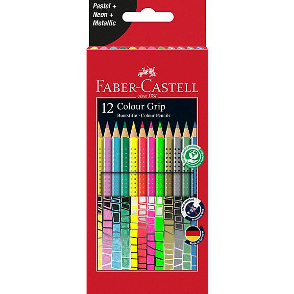 Faber-Castell Цветные карандаши Faber-Castell Grip, 12 цветов карандаши цветные grip 2001 12 цветов