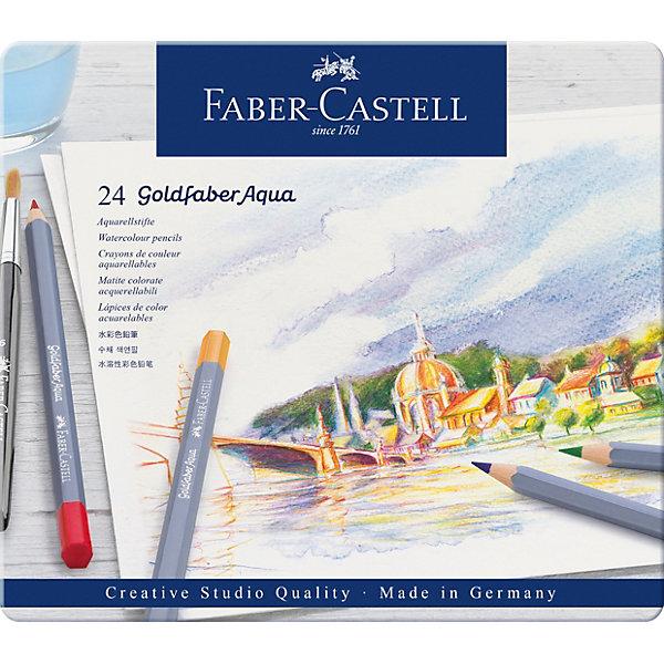 Faber-Castell Карандаши акварельные художественные Faber-Castell Goldfaber Aqua, 24 цвета карандаши цветные акварельные художественные faber castell albrecht durer 72 цвета деревянный ящик 117572