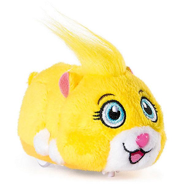 Интерактивный хомячок Spin Master Zhu Zhu Pets Пипсквик, 12 смИнтерактивные животные<br>Характеристики:<br><br>• интерактивная игрушка;<br>• коллекция: Жу Жу Петс;<br>• длина: 12 см;<br>• индивидуальные особенности каждого хомячка;<br>• материал: пластик, текстиль;<br>• тип батареек: 2 шт. типа ААА / LR0.3 1.5V;<br>• батарейки входят в комплект;<br>• упаковка-домик;<br>• размер упаковки: 15х10х6 см.<br><br>Озорной хомячок жужик быстро бегает по гладкой поверхности, крутится вокруг своей оси. Когда питомец наткнется на препятствие, он развернется и побежит в другую сторону. Хомячок издает забавные звуки, если нажать на носик или спинку. Маленький пушистый дружок может уснуть, восстанавливая силы. Игривый и забавный зверек обязательно подружится с вашим малышом. <br><br>Интерактивный хомячок Spin Master «Zhu Zhu Pets» Пипсквик, 12 см можно купить в нашем интернет-магазине.<br>Ширина мм: 153; Глубина мм: 64; Высота мм: 102; Вес г: 208; Цвет: желтый; Возраст от месяцев: 36; Возраст до месяцев: 2147483647; Пол: Унисекс; Возраст: Детский; SKU: 7684008;