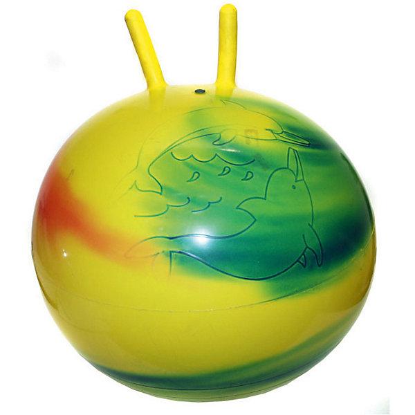 - Мяч с рогами Радужный, 55 см stantoma игрушка попрыгун мяч с рогами цвет красный 55 см