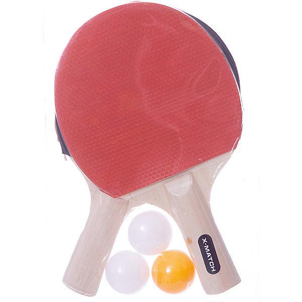 Набор X-Match для настольного теннисаБадминтон и теннис<br>Характеристики:<br><br>• тип игрушки: игровой набор;<br>• возраст: от 3 лет;<br>• комплектация: 2 ракетки, 3 шарика;<br>• материал: дерево, резина, пластик;<br>• размер: 19х4х28 см;<br>• бренд: X-Match.<br><br>Набор X-Match для настольного тенниса позволит детям скрасить свой досуг и провести его с пользой. Юным любителям спортивных игр и состязаний придется по душе физическая активность такого рода. В наборе имеется пара ракеток и 3 шарика. Рукоятки ракеток выполнены из дерева, а потому они всегда будут надежно лежать в ладони.<br><br>Набор X-Match для настольного тенниса можно купить в нашем интернет-магазине.<br>Ширина мм: 190; Глубина мм: 40; Высота мм: 280; Вес г: 44; Возраст от месяцев: 36; Возраст до месяцев: 2147483647; Пол: Унисекс; Возраст: Детский; SKU: 7684112;