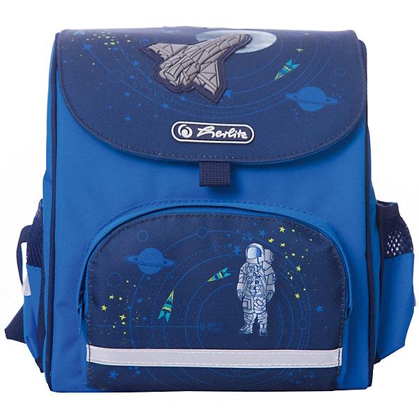Купить Ранец Herlitz Mini Softbag Space, дошкольный, Китай, синий, Мужской