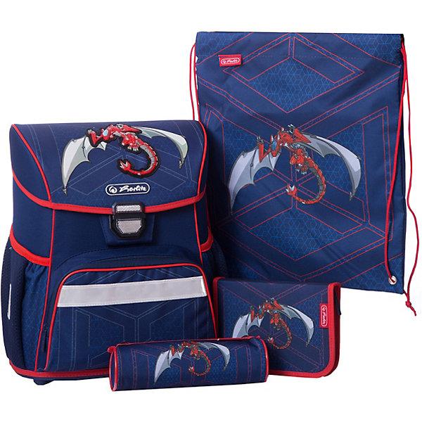 herlitz Ранец с наполнением Herlitz Loop Plus Red Robo Dragon школьные рюкзаки spiegelburg школьный ранец pferdefreunde ergo style plus с наполнением 10572