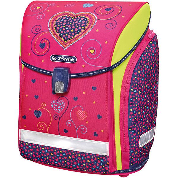 Купить Ранец Herlitz Midi New Plus, Pink Hearts, Китай, розовый, Женский