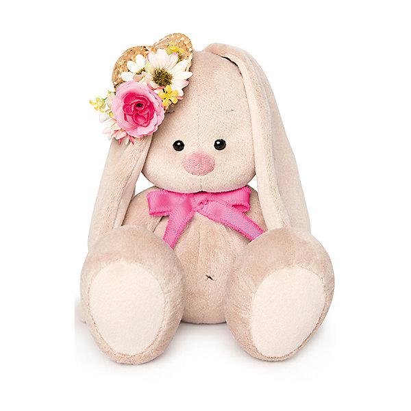 Budi Basa Мягкая игрушка Зайка Ми в соломенной шляпке, 18 см