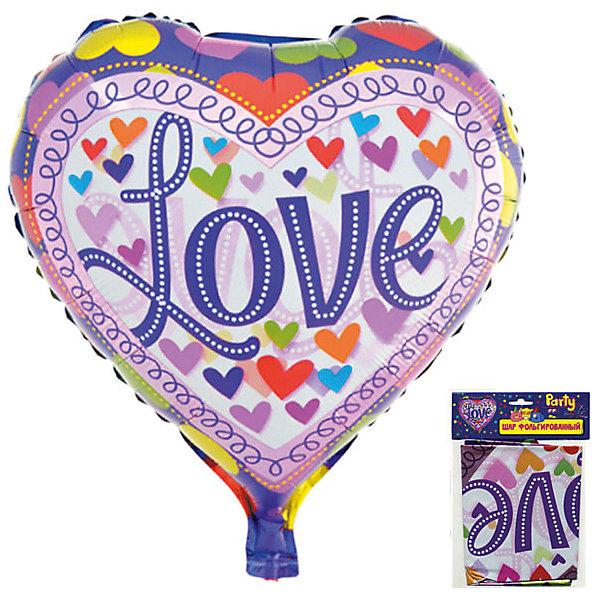 ACTION! Фольгированный шар I love you, 51х47см