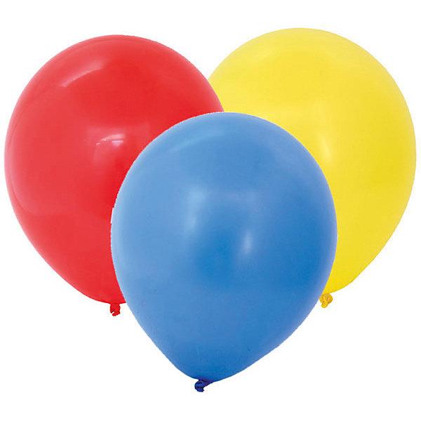 ACTION! Воздушные шары латексные без рисунка 25см, 100шт