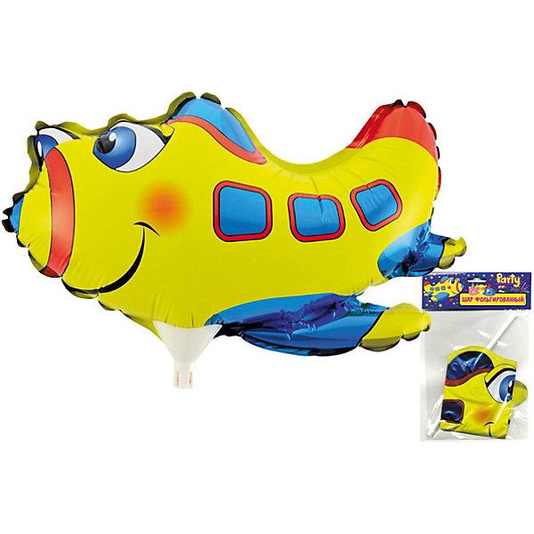 ACTION! Фольгированный шар на палочке Самолет, 30х21см