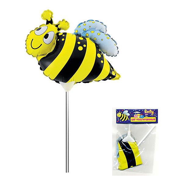 ACTION! Фольгированный шар на палочке ACTION! Пчела, 20х20см шар фольгированный сима ленд колясочка для девочки 1160915
