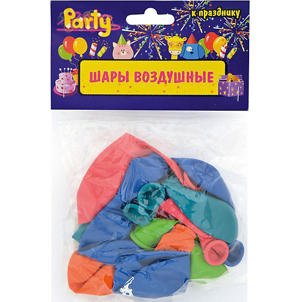 """ACTION! Воздушные шары ACTION! """"С Днем Рождения!"""" 25см, 10шт"""