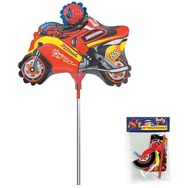 Фольгированный шар на палочке ACTION! Мотоцикл, 26х22смВоздушные шары<br>Характеристики товара:<br><br>• возраст: от 3 лет;<br>• упаковка: пакет с подвесом;<br>• материал: фольга, пластик;<br>• цвет: разноцветный;<br>• размер: 26х22 см;<br>• бренд: Action<br><br>Шар фольгированный «Мотоцикл» на палочке от бренда «Action!» станет отличным подарком юному любителю мотогонок или украшением его праздника.<br><br>Шар на палочке поднимет настроение и подарит позитив каждому мальчику, ведь помимо того, что он является украшением торжества, он может стать также любимой игрушкой ребенка.<br><br>Изделие в сдутом виде. Выполнено из качественных материалов и абсолютно безопасно для детей. <br><br>Шар фольгированный «Мотоцикл» «Action!» можно купить в нашем интернет-магазине.<br>Ширина мм: 100; Глубина мм: 10; Высота мм: 220; Вес г: 54; Возраст от месяцев: 36; Возраст до месяцев: 2147483647; Пол: Унисекс; Возраст: Детский; SKU: 7686981;