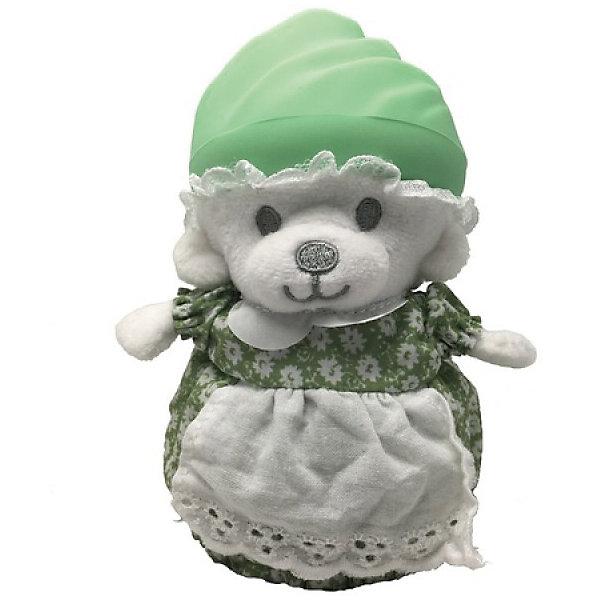 Игрушка Медвежонок в капкейке Cupcake Bears, ЛололиКоллекционные фигурки<br>Характеристики:<br><br>• возраст: 3+;<br>• высота кекса: 9 см;<br>• высота медвежонка: 15 см;<br>• материал: пластик, текстиль;<br>• габариты упаковки: 9,3х9,3х10 см;<br>• вес в упаковке: 90 г.<br><br>Небольшие кексики выглядят очень аппетитно. Но если взять их в руки и перевернуть низ кекса, то в один миг лакомство превратится в медвежонка.<br><br>Плюшевый медвежонок одет в милое платье с силиконовой шапочкой на голове. Нежные медвежата понравятся малышкам, ведь с ними так здорово играть.<br><br>Можно собрать большую коллекцию из 12 кексов с разноцветными силиконовыми шапочками, которые трансформируются медвежат.<br><br>Игрушку «Медвежонок в капкейке. Лололи» Cupcake Bears, можно приобрести в нашем интернет-магазине.<br>Ширина мм: 93; Глубина мм: 93; Высота мм: 100; Вес г: 90; Цвет: gelb/gr?n; Возраст от месяцев: 36; Возраст до месяцев: 168; Пол: Женский; Возраст: Детский; SKU: 7687037;