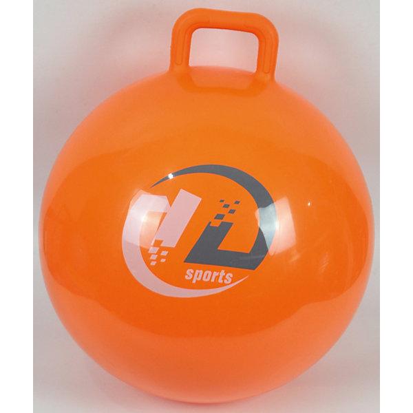 Z-Sports Мяч-попрыгун Z-Sports с ручкой, 45см, оранжевый мяч попрыгун larsen бегемотик