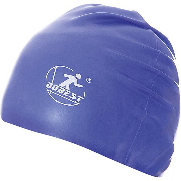 Dobest Силиконовая шапочка для плавания Dobest, темно-синяя dobest силиконовая шапочка для плавания dobest с рисунком голубая