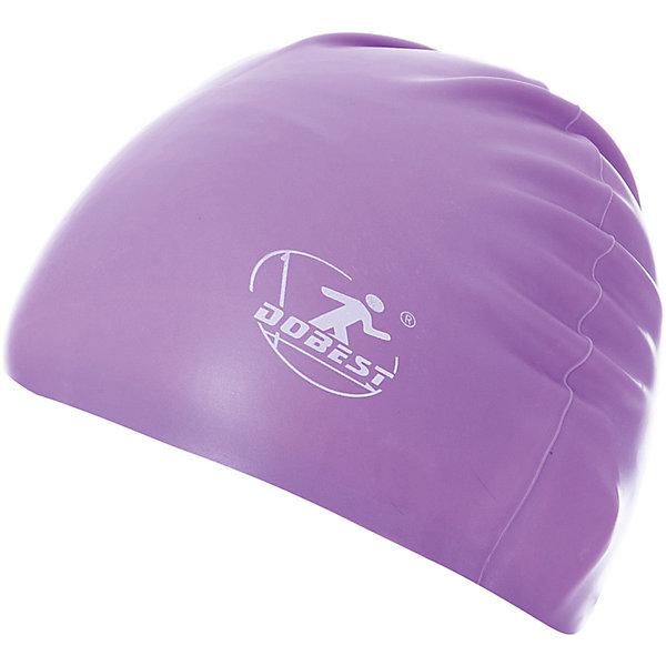 Dobest Силиконовая шапочка для плавания Dobest, фиолетовая силиконовая шапочка для плавания взр