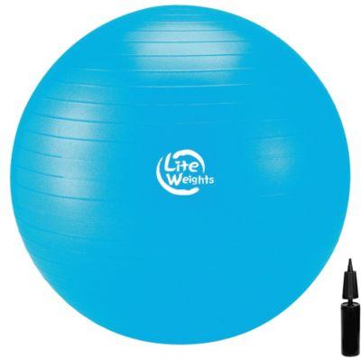 Гимнастический Мяч Lite Weights, с насосом , 75см, голубой, артикул:7687410 - Фитнес